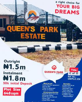 Gated and Fenced Land with C of O, Queens Park, Mowe Town, Mowe Ofada, Ogun, Residential Land for Sale