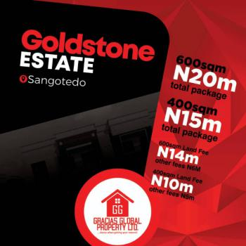a Well Developed Estate in a Serene Environment, Goldstone Estate, 2 Mins Drive to Shoprite, Off Monastery Road, Sangotedo, Ajah, Lagos, Residential Land for Sale