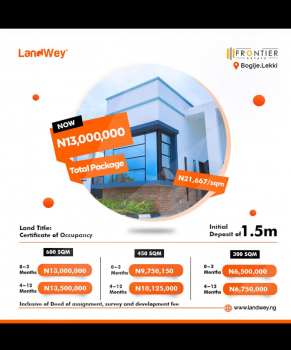 Land, Frontier Estate, Lekki Phase 1, Lekki, Lagos, Residential Land for Sale