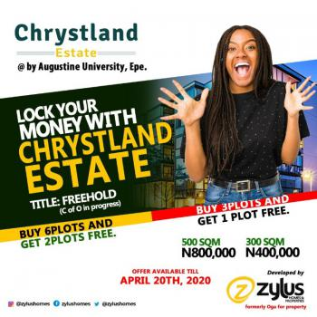 Affordable Land with C of O in Progress, Augustine University Road, Epe, Lagos, Mixed-use Land for Sale