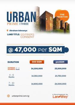 a Well Developed Estate (urban Prime 3), Facing Abraham Adesanya Road Along Lekki Expressway., Lekki Phase 2, Lekki, Lagos, Residential Land for Sale