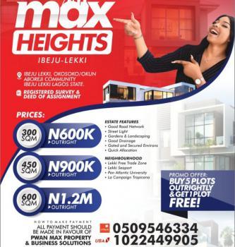 Estate Land, Dangote Refinery, Sea Port,ebute Okun Abakeeta Community, Eleko, Ibeju Lekki, Lagos, Residential Land for Sale