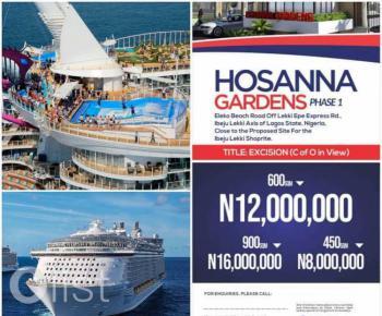 Estate Land, Besides Amen Estate Facing The Road Close to Shoprite, Eleko, Ibeju Lekki, Lagos, Residential Land for Sale
