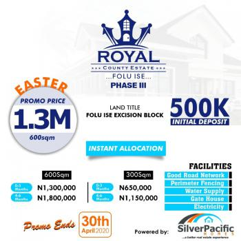 Royal County Estate Phase 3, After The La Campagne Tropicana Beach Resort, Folu Ise, Ibeju Lekki, Lagos, Residential Land for Sale