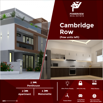 Affordabale and Luxury 4 Bedroom Apartment, Cambridge Row - Caspian Way, Ocean Bay Estate, Lekki Phase 2, Lekki, Lagos, Terraced Duplex for Sale