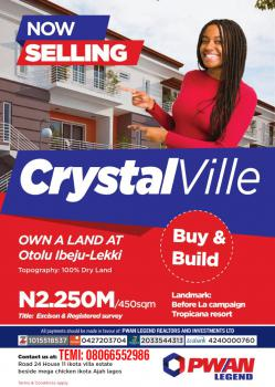 Crystal Ville Estate, Otolu, Before La Campaign Tropicana Resort, Akodo Ise, Ibeju Lekki, Lagos, Mixed-use Land for Sale
