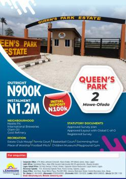 Estate Land, Mowe, Mowe Ofada, Ogun, Residential Land for Sale