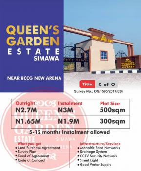 C of O Land Near Redemption Camp, Queens Garden, Few Minutes From Rccg New Arena, Simawa, Ogun, Residential Land for Sale