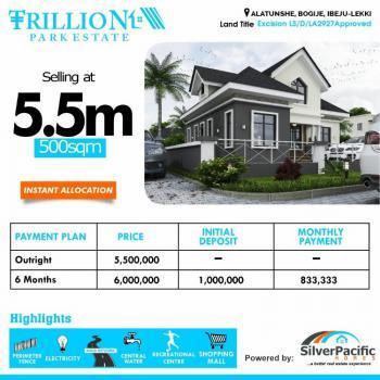Dry Plots of Land, Luxury Trillion Estate, Bogije, Ibeju Lekki, Lagos, Residential Land for Sale