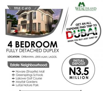 Luxurious 4 Bedroom Fully Detached Duplex +bq in a Secured Environment, Affordable &luxurious 4bedroom Fully Detached +bq with Much Facilities, Oribanwa, Ibeju Lekki, Lagos, Detached Duplex for Sale