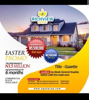 Land, Richview Estate Before Lekki Free Trade Zone, Akodo Ise, Ibeju Lekki, Lagos, Mixed-use Land for Sale