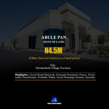 Excision Land in a Developed Area, Abule Pan, Eluju, Ibeju Lekki, Lagos, Residential Land for Sale