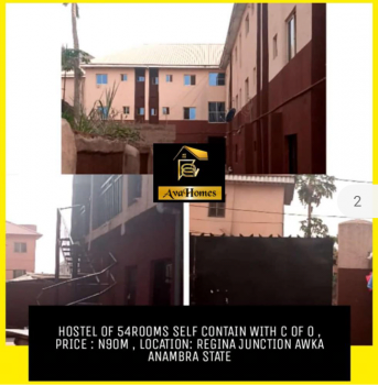 Hostel of 54rooms Self-contained, Awka, Anambra, Block of Flats for Sale