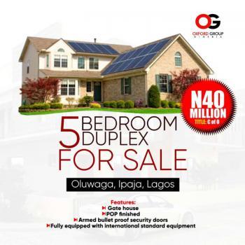 5 Bedroom, Oluwaga Bus Stop, Ipaja Road, Baruwa, Ipaja, Lagos, Terraced Duplex for Sale