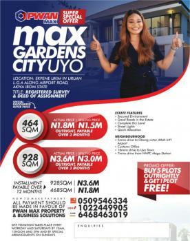 Land, Max Gardens, Ekpene Ukim, Airport Road, Uruan, Akwa Ibom, Mixed-use Land for Sale