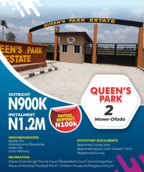 Land in a Fast Developing Estate, Queens Park Estate Phase 2, Mowe Ofada, Ogun, Residential Land for Sale
