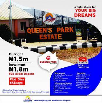Estate Plot of Land, Queens Park Estate, Mowe Ofada, Ogun, Residential Land for Sale
