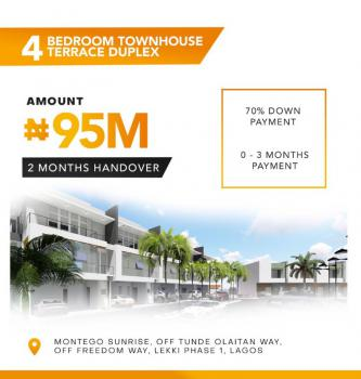 Luxury 4 Bedroom Town-house with Exquisite Finishing, Freedom Road, Lekki Phase 1, Lekki, Lagos, Terraced Duplex for Sale