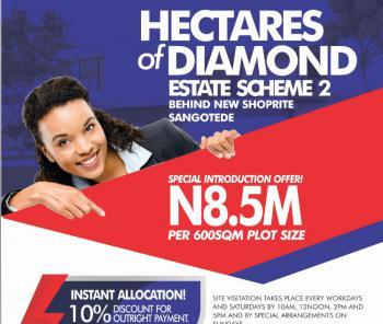 Land, Hectares of Diamond, Behind Novare Shoprite, Sangotedo, Ajah, Lagos, Mixed-use Land for Sale