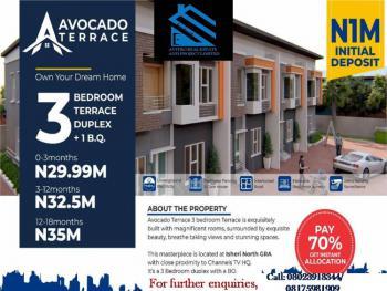3 Bedroom Terrace Duplex with a Bq (avocado Terrace), Avocado Terrace with Close Proximity to Channel Tv Headquarter, Gra, Isheri North, Lagos, Terraced Duplex for Sale