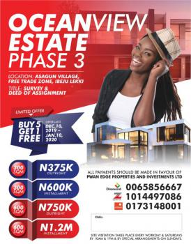 Ocean View State Phase 3, 30 Mins Drive From Dangote Refinery, Asegun, Ibeju Lekki, Lagos, Mixed-use Land for Sale