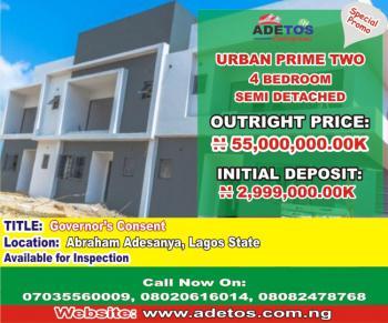 4 Bedroom Semi Detached, Urban Prime Two, Lekki Expressway, Lekki, Lagos, Semi-detached Bungalow for Sale