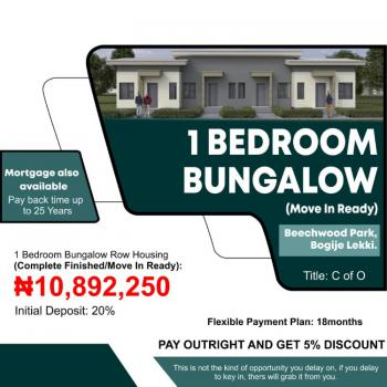 1 Bedroom Bungalow, Ready to Move in, 5 Mins From Lakowe Golf Estate ,, Bogije, Ibeju Lekki, Lagos, House for Sale