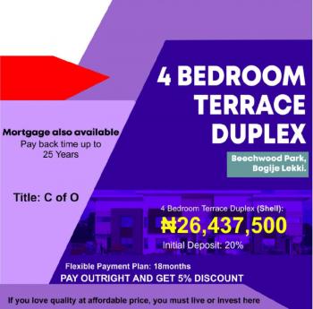 Exquisite 4 Bedroom Terrace Duplex, Beechwood Park, Bogije, Ibeju Lekki, Lagos, Terraced Duplex for Sale