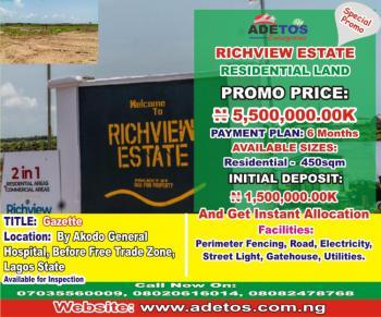 Residential Land, Richview Estate, Akodo Ise, Ibeju Lekki, Lagos, Commercial Land for Sale