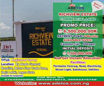 Commercial Land, Richview Estate, Akodo Ise, Ibeju Lekki, Lagos, Commercial Land for Sale