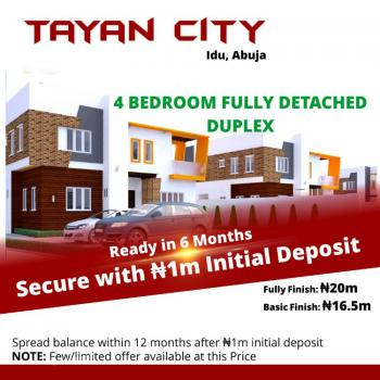 Luxury 4 Bedroom Fully Detached Duplex in a Serene Environment, Idu Industrial, Abuja, Detached Duplex for Sale