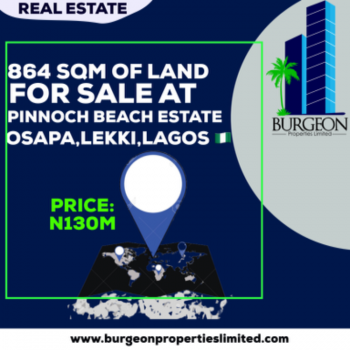 863 Sqm of Land, Osapa, Lekki, Lagos, Residential Land for Sale