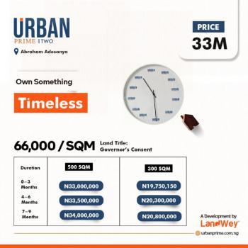 Urban Prime 2, Located Opp Urban Prime 1 at Abraham Adesanya Ajah,, Ajah, Lagos, Residential Land for Sale