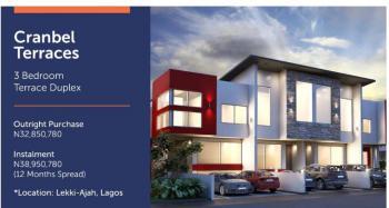 Luxury 3 Bedroom Terrace, Monastery Road, Novare Mall, Sangotedo, Lekki Expressway, Lekki, Lagos, Terraced Duplex for Sale