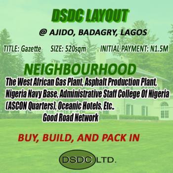 Land, Dsdc Layout, Ajido, Badagry, Ajido, Badagry, Lagos, Mixed-use Land for Sale