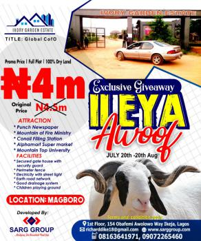 Exclusive on Ileya Promo on Full Plots Or Acres of Land, Victory Bus Stop, Makogi, Ivory Garden Estate, Magboro, Ogun, Residential Land for Sale