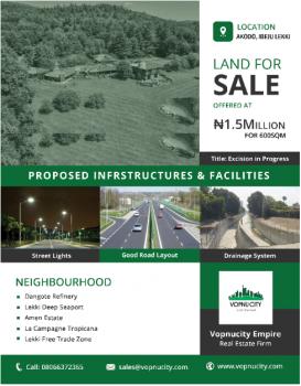 Plots of Land (600 Sqm), Akodo, Akodo Ise, Ibeju Lekki, Lagos, Mixed-use Land for Sale