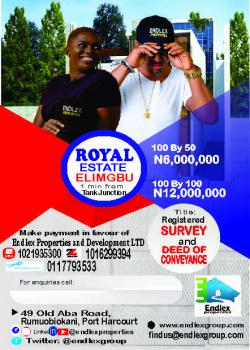 Developed Dry Table Lands, Elimbu, Port Harcourt, Rivers, Mixed-use Land for Sale