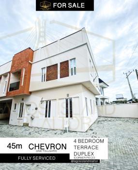Massive 4 Bedroom Terrace Duplex (corner Piece Unit), Off Orchid Hotel Road, Lafiaji, Lekki, Lagos, Terraced Duplex for Rent
