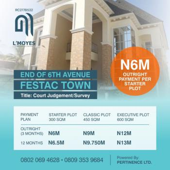 Vip Gardens Executive Plots, End of 6th Avenue, By Early Life Boarding House, Festac, Amuwo Odofin, Lagos, Mixed-use Land for Sale