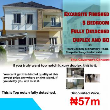 Exquisitely Finished 5 Bedroom Fully Detached Duplex and Bq, Pearl Garden, Monastery Road, Shoprite, Sangotedo, Ajah, Lagos, Detached Duplex for Sale