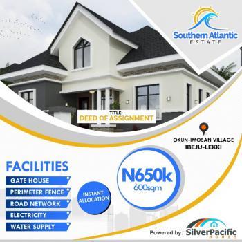 Plot of Land, 13min Drive to Dangotes Multi-billion Dollars Refinery, Okun Imedu, Ibeju Lekki, Lagos, Residential Land for Sale