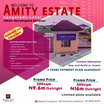 Affordable Well Positioned Land, Amity Estate., Sangotedo, Ajah, Lagos, Mixed-use Land for Sale