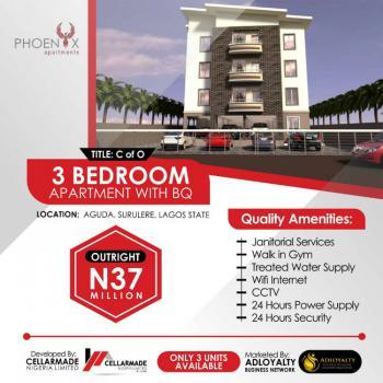3 Bedroom Apartrment with Bq, Phoenix Apartment, Aguda, Surulere, Lagos, Block of Flats for Sale