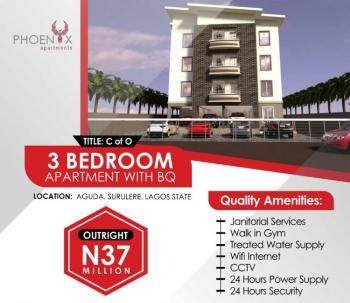 3 Bedroom Apartment with Bq in Surulere, Aguda, Surulere, Lagos, Block of Flats for Sale