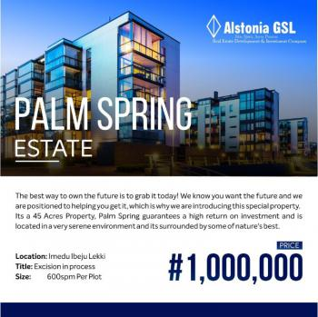 Most Affordable Gated Land in a Serene Environment, Palm Spring Estate, Imedu, Akodo Ise, Ibeju Lekki, Lagos, Mixed-use Land for Sale