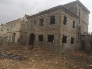 Carcass 4 Bedrooms Fully Detached Duplex with a Penthouse and Bq, By Cbn Estate, Apo, Abuja, Detached Duplex for Sale