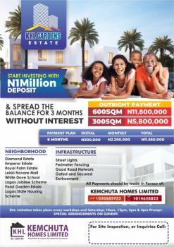 Khl Gardens, Start Investing with 1million Deposit., Khl Gardens Estate,  Monastery Road., Sangotedo, Ajah, Lagos, Land for Sale