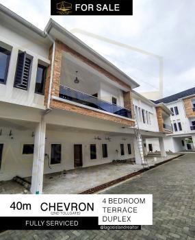 Extra Spacious 4 Bedroom Terraced Duplex, Fully Serviced, Opposite Chevron Tollgate, Lafiaji, Lekki, Lagos, House for Rent