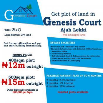 500 Sqm Plot of Land, Genesis Court, Unity Road, Off Cooperative Villas Estate Way, Badore, Ajah, Lagos, Residential Land for Sale